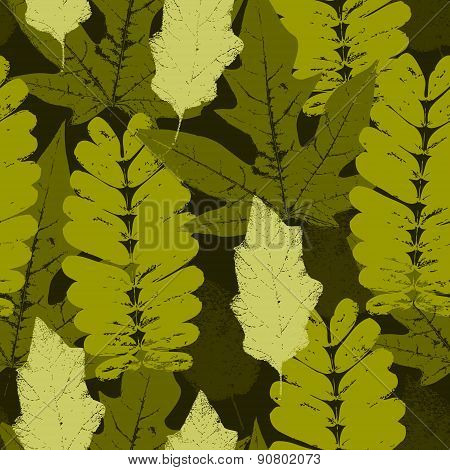 Leaves Military Pattern