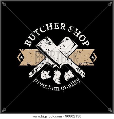 Retro Styled Butchery Label Template