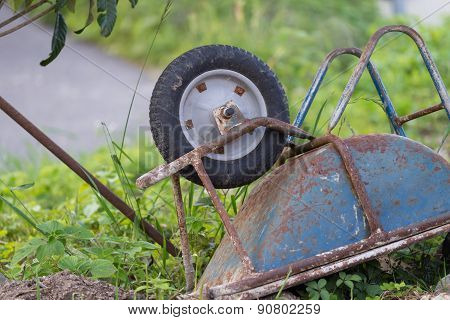 Rusty Old Wheelbarrow
