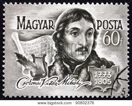Postage Stamp Hungary 1955 Mihaly Csokonai Vitez, Poet