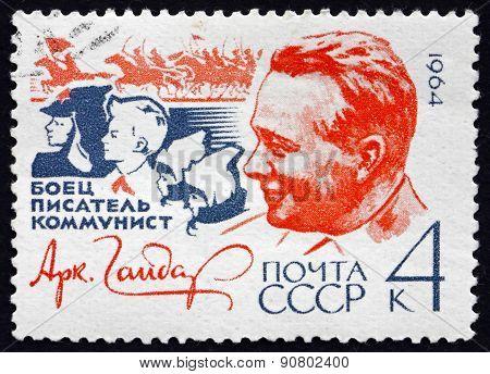 Postage Stamp Russia 1964 Arkady Gaidar, Writer