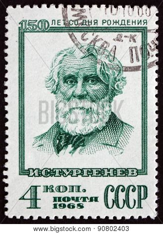 Postage Stamp Russia 1968 Ivan Sergeyevich Turgenev, Writer