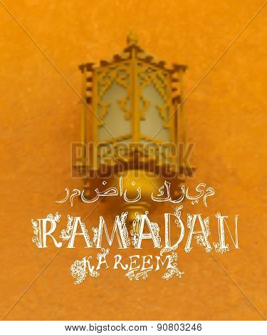 Creative greeting card design for holy month of muslim community festival Ramadan Kareem