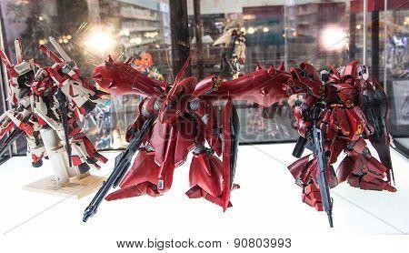 Sriracha, Thailand - May 16: Gundam Anime Figure In Kodomo No Hi @ J-park On 16 May 2015. At J-park