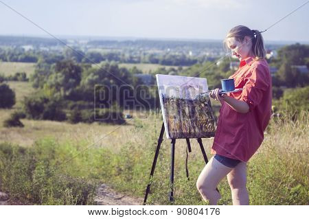 Artist On The Plain Air