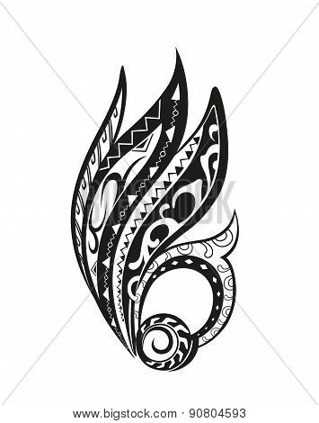 Abstract Composition Of The Ornaments In The Style Of The Maori