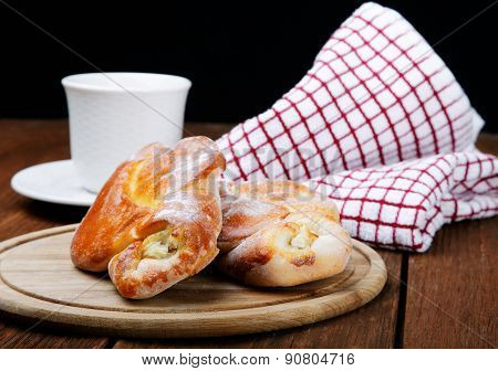 Cup Of Tea Patties With Cheese And  Towel