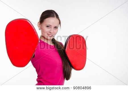 Athlete With Boxing Paws