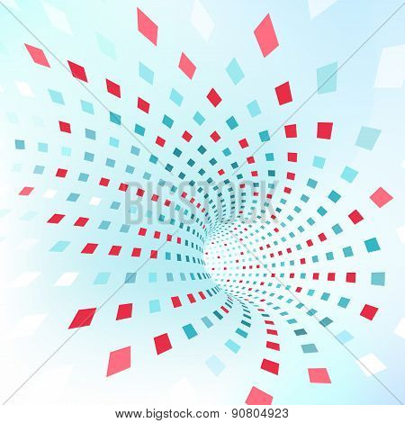 Vector background. Abstract texture with squares.