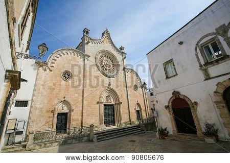 Cathedral Of Ostuni, Puglia, Italy.