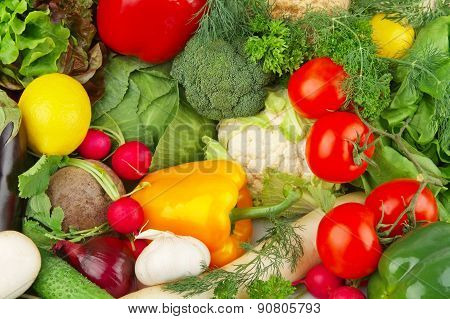 Dietetic Set Of Paleo Diet Of Vegetables