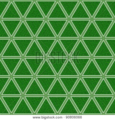 Green Jeans Background With Rhombs