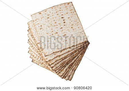 Matzot Isolated On White