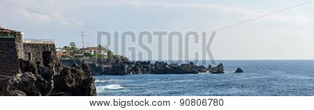 Barbero Headland From Distance In Puerto De Santiago, Tenerife, Canary.