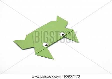 Origami Green Frog