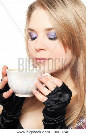 Beautiful Blonde With A Cup