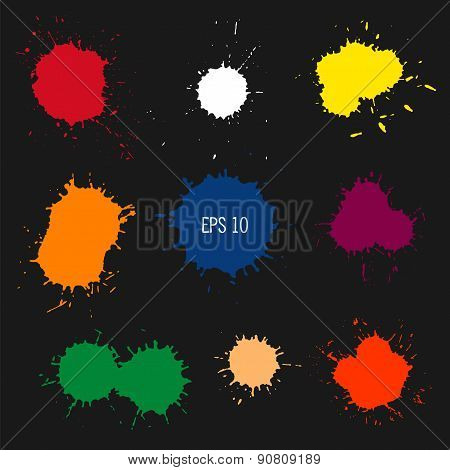 Abstract Colorful Paint Drops.