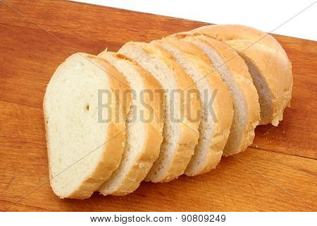 Half Loaf Of White Wheat Bread