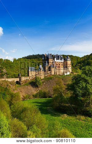 Side view Eltz castle Rhineland-Palatinate Germany