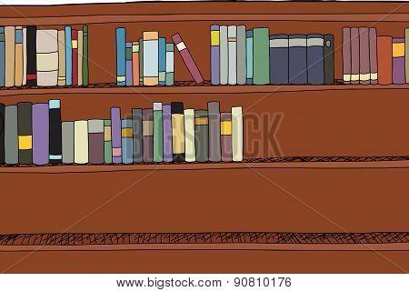 Half Full Bookshelf