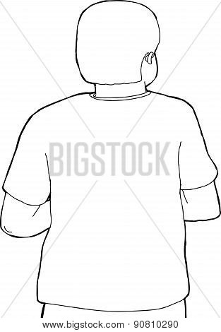 Back Of Person Outline