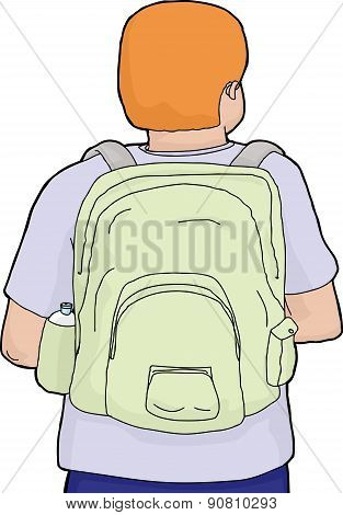 Rear View Of Backpack And Person