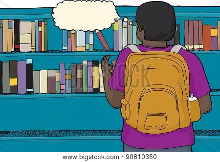 Student Reaching For Book