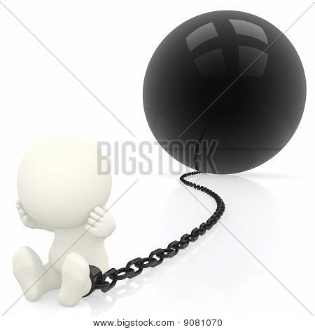 3D Prisoner In Chains