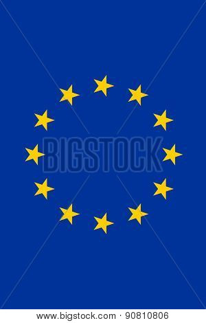 Flag Of The European Union Vertical