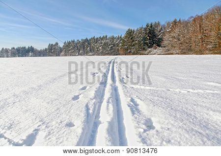 Winter landscape, HDR image