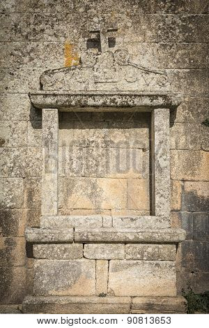 outdoor medieval altar of the Christian church in Sortelha