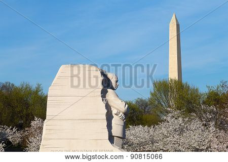 WASHINGTON DC - APRIL 12: The Martin Luther King Memorial on April 12, 2015 in Washington DC.