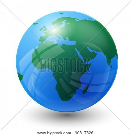 planet earth map - Africa view