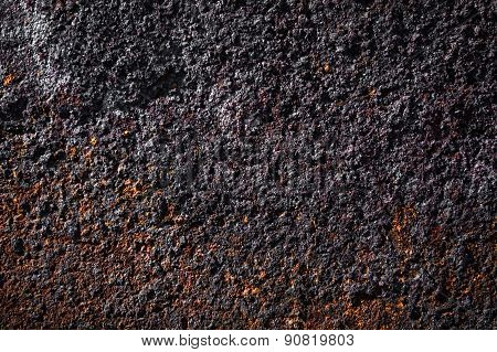 Rusty grained metal background