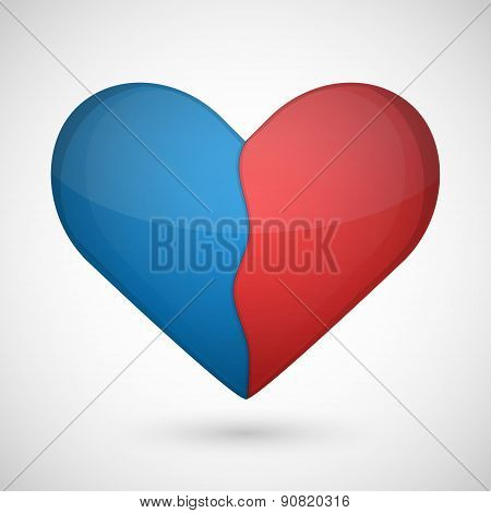 Vector Broken Heart On A White Background.