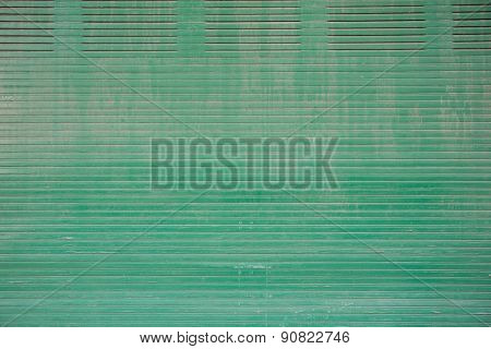 Old And Rusty Green Metal Grunge Background