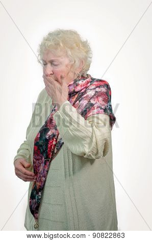 Colds Elderly Woman.