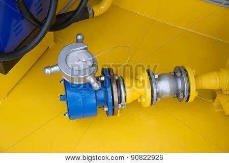 The Receiver Pipe And Valve Of  Gas Station