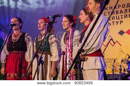 Kiev, Ukraine-may 15-17,2015: Singing Folk Choral Group