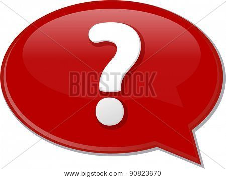 Word speech bubble illustration of discussion forum blog question vector