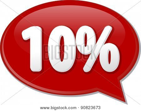 Word speech bubble illustration of discussion forum blog percent discount ten 10 vector