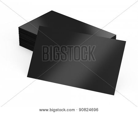 Blank business cards