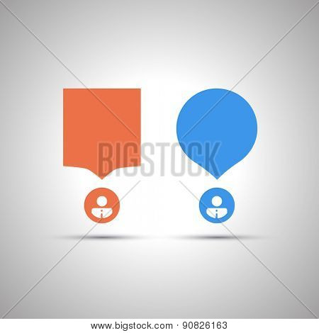 Chat, Conversation Design Concept - Colorful Speech Bubbles with Text Space