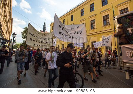KRAKOW, POLAND - MAY 9, 2015: During