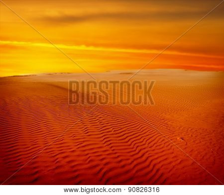 sand desert,sunset