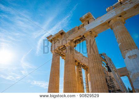 Parthenon temple in Acropolis