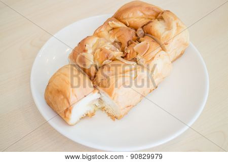 Homemade Bread With Almond, Raisin And Coconut