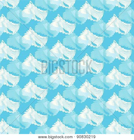 Seamless Vector Wave Japanese Pattern