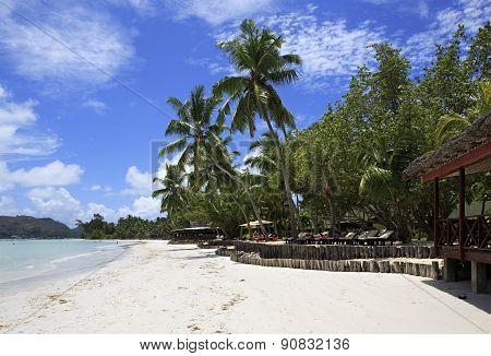 Beach Cote DOr near the hotel Paradise Sun Hotel Seychelles.