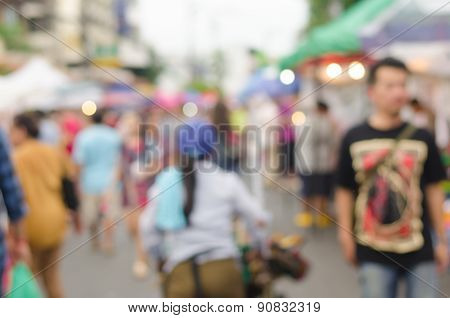 Abstract Blurred People.